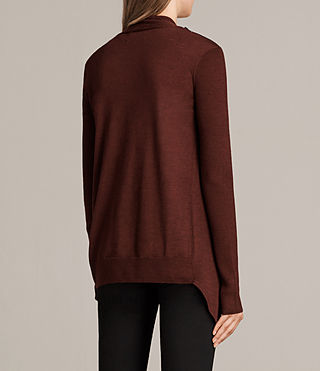Donne Cardigan Drina Ribbed (BURGUNDY RED) - Image 5