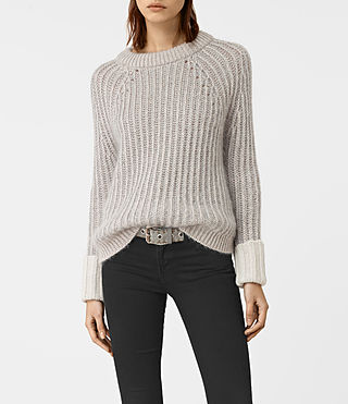 Womens Egler Sweater (Pastel Grey) - product_image_alt_text_1
