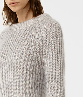Womens Egler Sweater (Pastel Grey) - product_image_alt_text_2