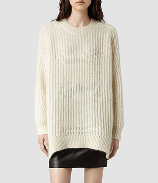 Womens Casse Sweater (Ecru)
