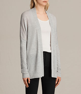 Womens Lotus Cashmere Cardigan (Light Grey Marl) - product_image_alt_text_2
