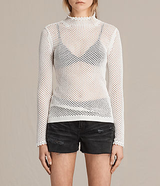 Womens Avril Top (CLOUD WHITE) - product_image_alt_text_1
