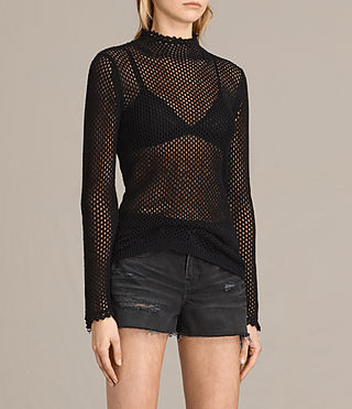 Mujer Avril Top (Black) - product_image_alt_text_2