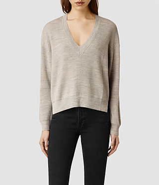 Womens Vix Jumper (Sable Marl)