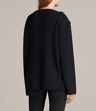 Womens Faye Slash Neck Sweater (Ink Blue) - Image 4