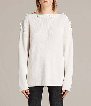 Womens Faye Slash Neck Jump (Chalk White)