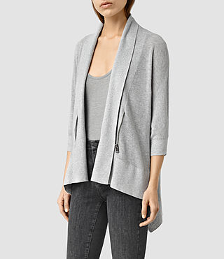 Womens Ali Cardigan (MIRAGE GREY) - product_image_alt_text_2