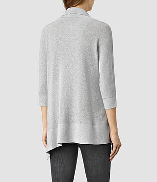 Womens Ali Cardigan (MIRAGE GREY) - product_image_alt_text_3