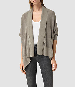 Womens Ali Cardigan (LUNAR GREY MARL)