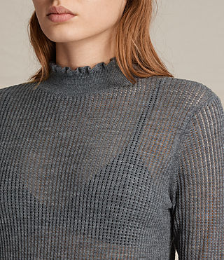 Womens Haze Sweater (Charcoal Grey) - product_image_alt_text_1