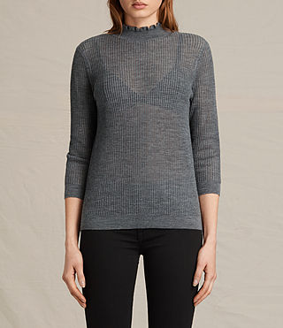 Womens Haze Sweater (Charcoal Grey) - product_image_alt_text_2