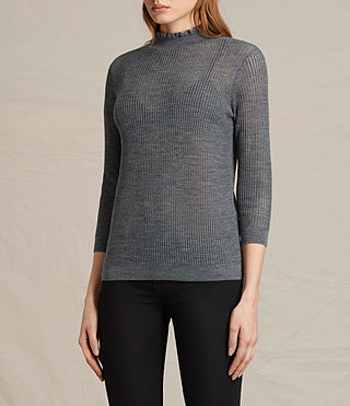 Womens Haze Sweater (Charcoal Grey) - product_image_alt_text_3