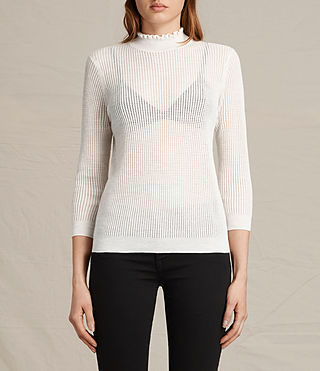 Womens Haze Sweater (ECRU WHITE) - product_image_alt_text_1