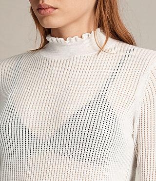 Womens Haze Sweater (ECRU WHITE) - product_image_alt_text_2