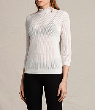 Womens Haze Sweater (ECRU WHITE) - product_image_alt_text_3