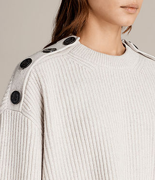 Women's Faye Crew Neck Jumper (PORCELAIN WHITE) - Image 2