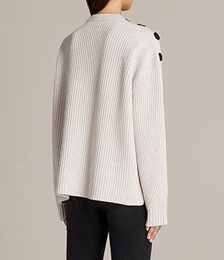 Women's Faye Crew Neck Jumper (PORCELAIN WHITE) - Image 5