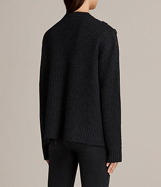 Womens Faye Crew Neck Sweater (Cinder Black Marl) - Image 5