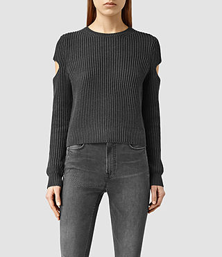 Womens Ria Cropped Sweater (COAL BLACK)