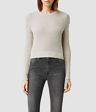 Womens Ria Cropped Sweater (MIST GREY)
