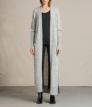 Womens Maia Cardigan (Light Grey Marl)