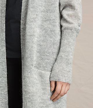 Mujer Maia Cardigan (Light Grey Marl) - product_image_alt_text_2