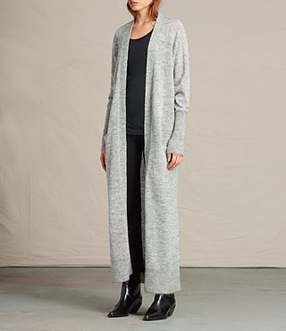 Mujer Maia Cardigan (Light Grey Marl) - product_image_alt_text_3