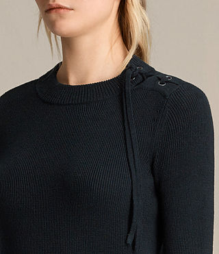 Women's Gilli Laced Jumper (Ink Blue) - product_image_alt_text_2