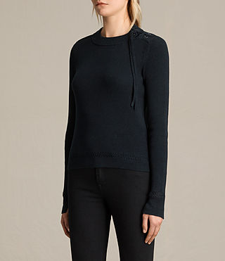 Women's Gilli Laced Jumper (Ink Blue) - product_image_alt_text_3
