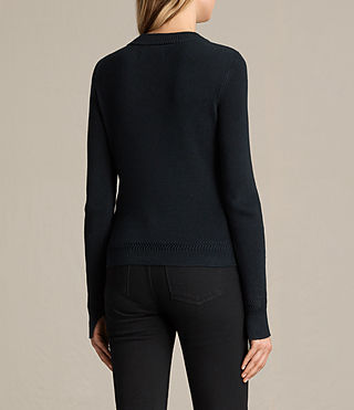 Women's Gilli Laced Jumper (Ink Blue) - product_image_alt_text_4