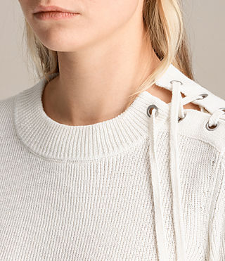 Womens Gilli Laced Sweater (IVORY WHITE) - product_image_alt_text_1
