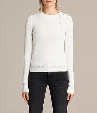 Womens Gilli Laced Sweater (IVORY WHITE) - product_image_alt_text_2