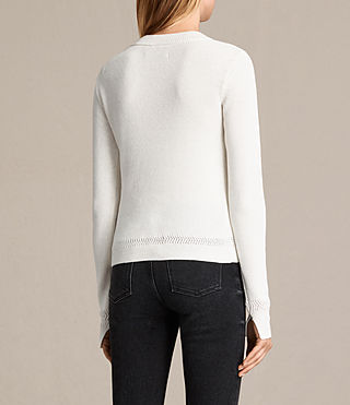 Womens Gilli Laced Sweater (IVORY WHITE) - product_image_alt_text_4