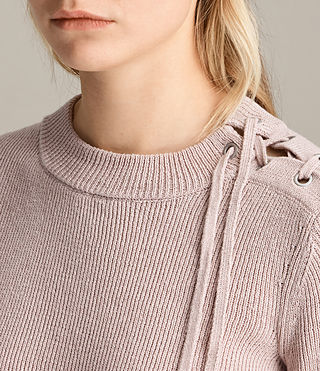 Womens Gilli Laced Sweater (SORREL PINK) - product_image_alt_text_1