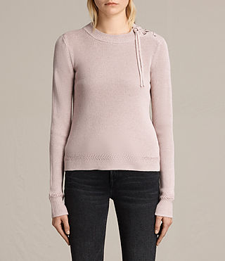 Womens Gilli Laced Sweater (SORREL PINK) - product_image_alt_text_2