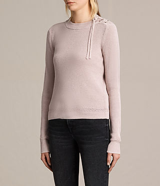Womens Gilli Laced Sweater (SORREL PINK) - product_image_alt_text_3