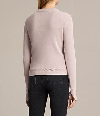Womens Gilli Laced Sweater (SORREL PINK) - product_image_alt_text_4