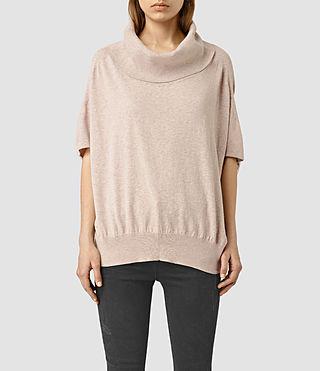 Womens Elis Cowl Sweater (SandstonePinkMarl)