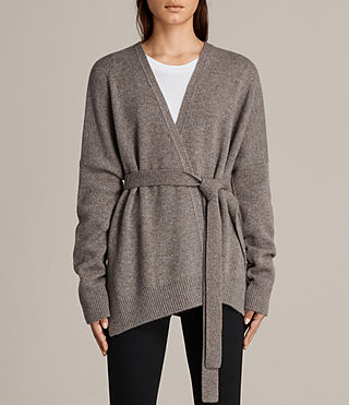 Donne Cardigan Inaya (Fossil Brown) - Image 1