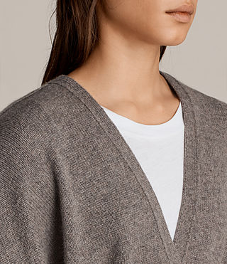 Damen Inaya Strickjacke (Fossil Brown) - Image 3