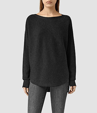Womens Esia Merino Sweater (Cinder Black Marl) - product_image_alt_text_1