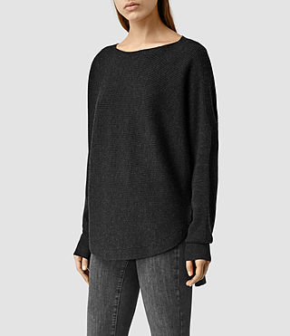 Womens Esia Merino Sweater (Cinder Black Marl) - product_image_alt_text_2