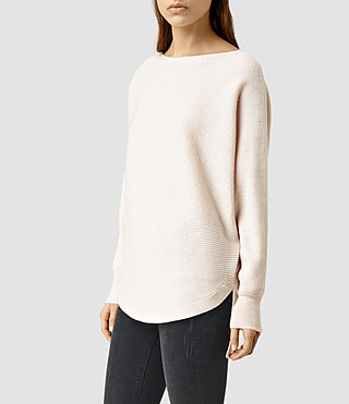 Womens Esia Merino Sweater (ALMOND PINK MARL) - product_image_alt_text_2