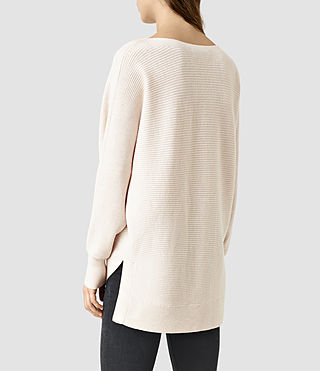 Womens Esia Merino Sweater (ALMOND PINK MARL) - product_image_alt_text_3