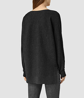 Mujer Esia Merino Sweater (CinderBlackMarl) - product_image_alt_text_3