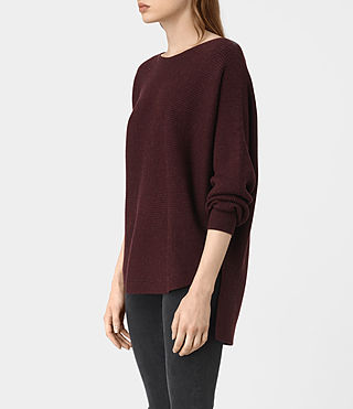 Womens Esia Merino Sweater (DAMSON RED MARL) - product_image_alt_text_2