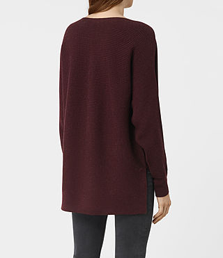Womens Esia Merino Sweater (DAMSON RED MARL) - product_image_alt_text_3