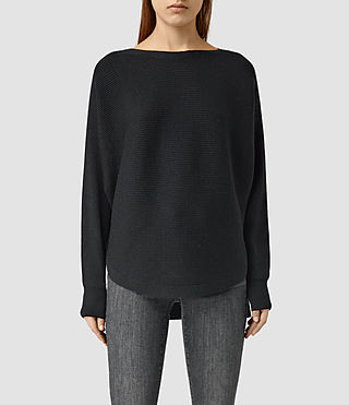 Womens Esia Merino Sweater (Black) - product_image_alt_text_1