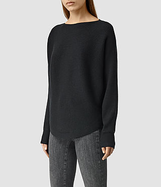 Womens Esia Merino Sweater (Black) - product_image_alt_text_2