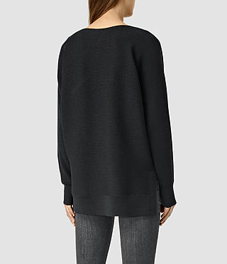 Womens Esia Merino Sweater (Black) - product_image_alt_text_3